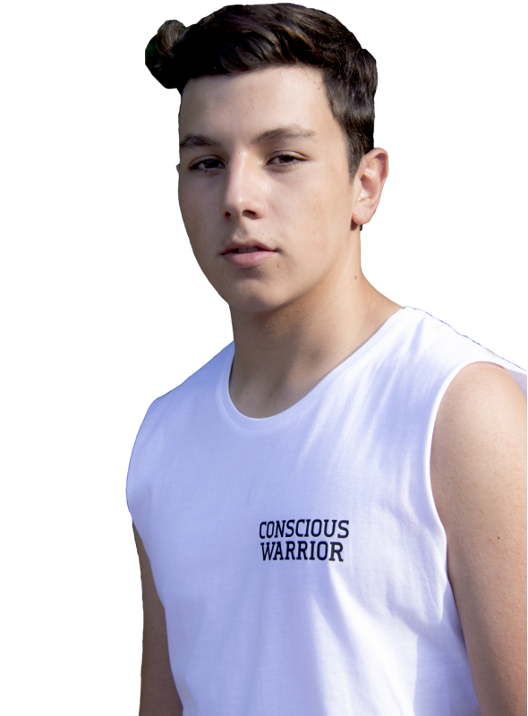 CONSCIOUS WARRIOR men muscle tee